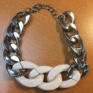 Jewelry - New Chain White and Silver Bracelet
